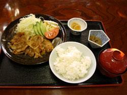 生姜焼き定食 1,000円